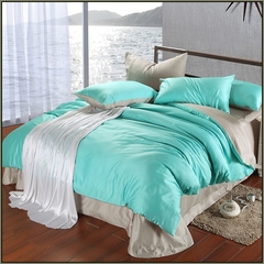 Four-piece  pure cotton duvet cover set double color 5*6