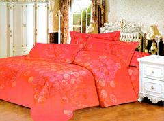Four piece velvet duvet cover set Multicolor 5*6