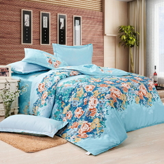 Four Piece Long Staple Duvet Cover Sets Multicolor 4*6