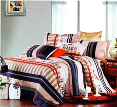 Four piece High quality thick 100%cotton duver cover sets Multicolor 5*6