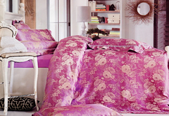 Four piece jacquard weave cotton duvet cover sets Multicolor 5*6