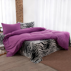 Four Piece High Quality  Zebra Stripped Pure Cotton Duvet Cover Sets Multicolor 5*6
