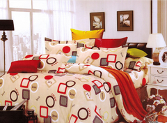 Four piece Long-staple cotton multicolored duvet cover sets Multicolor 4*6