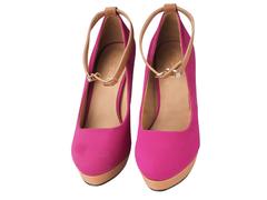 EDS Pink Black Suede Heels