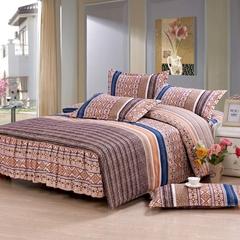 Four piece Long staple cotton duvet cover sets Multicolor Multicolor 4*6