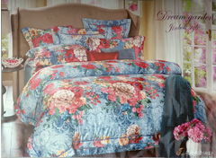 Four piece jacquard weave cotton duvet cover sets