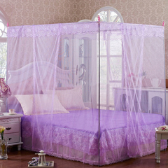 High quality European court style three doors purple mosquito nets sm811-01 one color 5*6