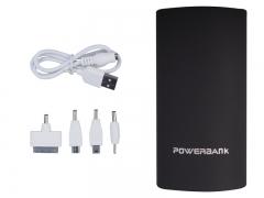 Sleek Portable Palm size Power Bank Black 5600 mAh