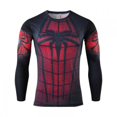 American captain long-sleeved T-shirt sports tights men's steel man Superman fitness clothes colour 4 m