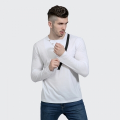 Young men's casual long-sleeved round neck T-shirt 11 m