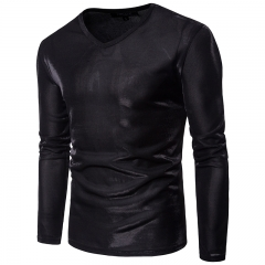 Men's casual round neck long sleeve T shirt tide 11 m