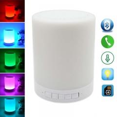 Bluetooth Speaker + 7 Changing Colors Smart Touch Sensor led light white portable