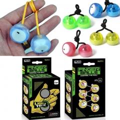 2017 NEW LED Light Up Finger YOYO Balls Toys-Glow In the Dark Anti Stress Random