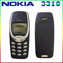 Original Nokia 3310 cheap phone unlocked GSM 900/1800 with multi language 1 year warranty dark blue