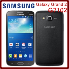 Unlocked Samsung G7102 Grand 2 GPS 8GB ROM 8MP Quad Core Dual SIM Cards Refurbished Smartphone black
