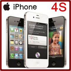 iPhone 4S Unlocked 3.5 Inches 8/16/32/64GB ROM GSM 8MP Camera WIFI GPS IOS Mobile Phone 16GB standard black