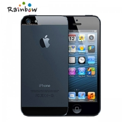 Original iPhone 5 Dual-core 1G RAM 16GB/32GB/64GB ROM 4.0 inches 8MP Camera WIFI GPS Cell Phones 16gb version black