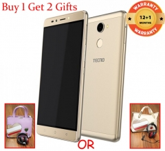 Tecno L9 Plus 6-Inch ( 2GB, 16GB ROM) Android 7.0, 13MP + 5MP Smarphone - (Buy 1 Get 2 Gifts) gold