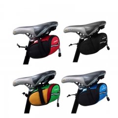 Roswheel Cycling Rear Bags MTB Bike Bicycle Saddle Bag Back Seat Tail Pouch Package Reflective black