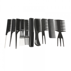 10pcs Professional Hair Combs Kits Salon Barber Comb Brushes  Hairbrush Hair Care Styling Tools Set as picture as picture