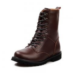 Men's Boots Work & Safety Boots Plus Size 48 Snow Boots Leather Shoes Fashion Half Boot dark brown 39