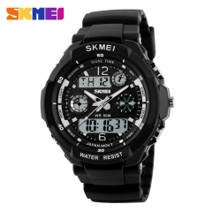 Men Military Sports Watches Digital LED Wristwatches white