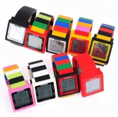 Unisex Touch Screen Plastic Digital Automatic Watch random