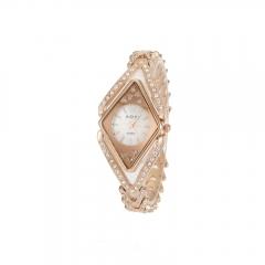 Ms luxury fashion drill style quartz watch rose