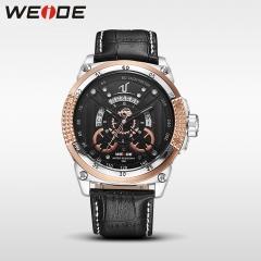 fashion casual horloge mannen quartz lederen band horloges 30 m waterdichte gouden golden
