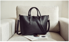 OL two pieces of new mothers shoulder bag 5505 black free size