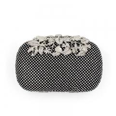 Luxury flowers high-grade diamond dinner package RQE3326 black free size
