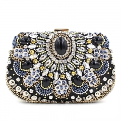 Gemstone diamonds dinner bag cheongsam bag RQES254 black free size