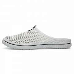 Unisex Men Womens Summer Casual Garden Shoes Breathable Mesh Clogs Beach Slippers white 36