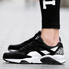 Men Running Shoes Sport Big Size Black/Gray  Shoes Summer/Autumn Sneakers Mens Athletic Trainers black 39