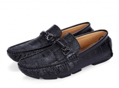 Swag Horsebit Loafers Male Urban Men Driving Shoes Luxury Brand Shoes Summer Men Shoes black 39