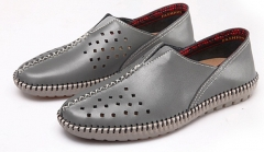 Summer Men Espadrille Casual Flats Shoes Big Plus Size Loafers Boat Shoes Flat Shoes grey 39