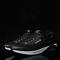 2017 New Arrival Mens Trainers Shoes Men Brand Shoes Casual Shoes Air Cushion Shoes Male black 39