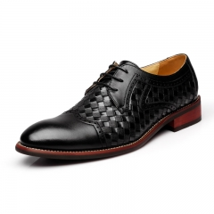 Genuine Leather Business Mens Brogue Lace Up Office Shoes Walking Men Dress Shoes black 39