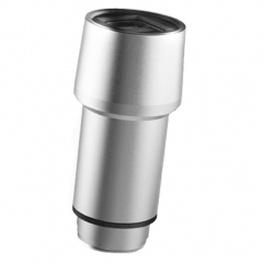 Stainless steel universal dual USB port car charger with safety hammer function Silver 5.8 x 2.3