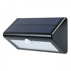 Solar light, Bright 38 LED Outdoor Lighting Motion Sensor Wall Lights with 4 Modes( Black) Black 4W