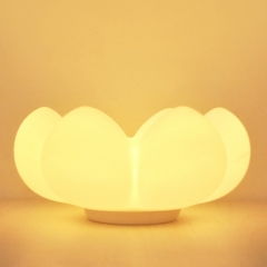 Silicone soft storage flower night light, USB fleshy flower lamp housing with Sensitive Tap Control White-Yellow light 16cm 0.5W
