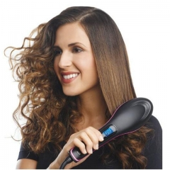 TV Simply Straight Electric Hair Straightener Brush Comb with LCD Display( Black) Black 27.5cm*7cm*4cm