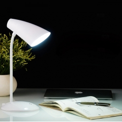 Flexible USB Desk Touch Control Lamp, 18 LED Dimmable Eye Care 3 Brightness Level Reading Light White 12cm 2W