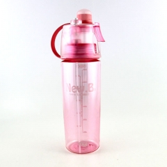 600ML Mist Spray Water Bottle Mist Hydration Bottle for Outdoor Sport, BPA Free Pink
