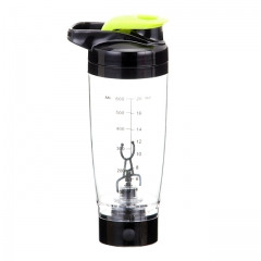 Electric Juice Cup, Fruit Mixing Machine, Water Bottle 600ML Juice Blender and Mixer(Black+Green)