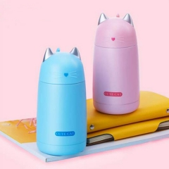 Thermos Cup Cartoon Moe Cat Drinkware Kids Water Bottle Stainless Steel Vacuum Leak-proof Insulation Pink one size