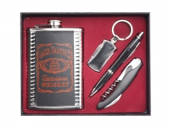 Swag can hip flask with accessories