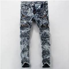 Fashion tide brand men's self-cultivation men's trousers gray 28