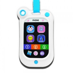 UnyeeToy Baby Learning Musical Cellphone Toy Baby Toys Crying Stop Master white baby size