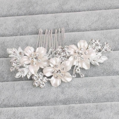 Unyee Woman Wedding Hair Jewelry Crystal Flower Hair Pin Hair Decorative Accessories silver standard